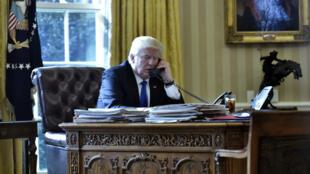 Le président Trump à la Maison Blanche, le 28 janvier.