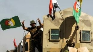 قوات الحشد الشعبي العراقي في محافظة الحويجة في 6 تشرين الأول/أكتوبر 2017.