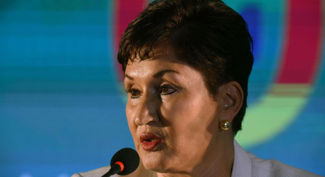 La ex fiscal general de GuatemalA, Thelma Aldana, durante una asamblea general del partido político Movimiento Semilla,el 10 de marzo de 2019.
