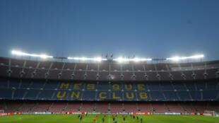 El Barcelona entrena en su estadio antes de su partido contra el Olympiacos. 17/ 10/ 2017