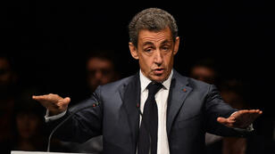 Nicolas Sarkozy lors d'un meeting aux Sables-d'Olonne, le 1er octobre.