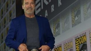 L'acteur Arnold Schwarzenegger, le 18 juillet 2019 à San Diego (Californie)
