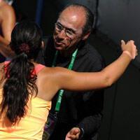Lorsque Marion Bartoli joue au tennis, son père Walter n'est jamais loin. (photo : AFP)