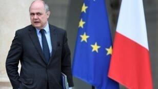 وزير الداخلية الفرنسي برونو لورو في الإليزيه في 15 آذار/مارس 2017