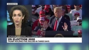 2020-10-20 08:10 US elections 2020: Trump holding five rallies in three days