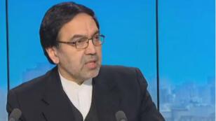 L'ambassadeur d'Iran à Paris, Abolghassem Delfi, sur le plateau de France 24, le 22 novembre 2017.