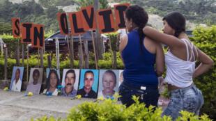 Retrato de homenaje a desaparecidos en Medellín, Colombia. Octubre 27