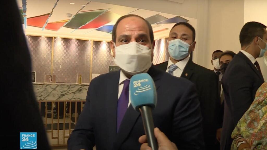 الرئيس عبد الفتاح السيسي لفرانس24: مصر تعمل من أجل حقن الدماء والسعي نحو حل الدولتين بين الفلسطينيين والإسرائيليين