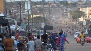 Les rues de Bouaké, en Côte d'Ivoire.