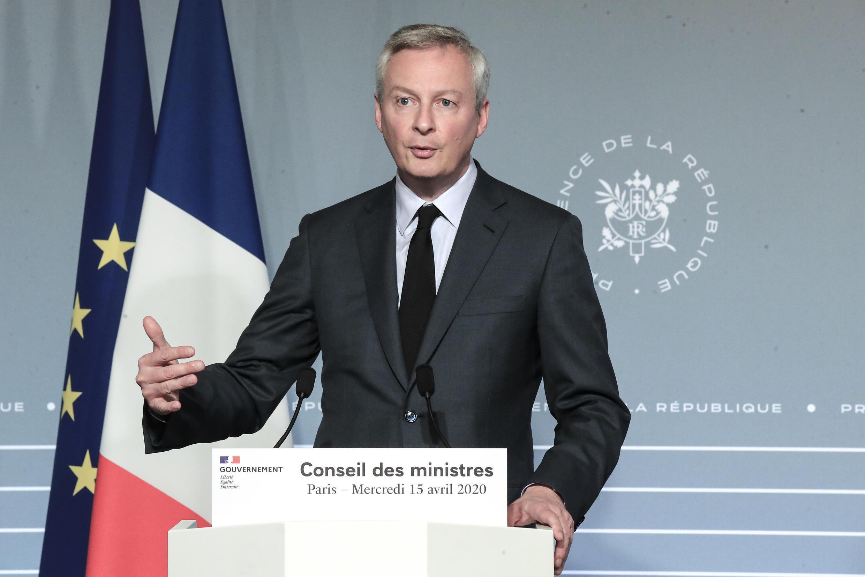 Le ministre français de l'Économie, Bruno Le Maire, le 15 avril 2020 à Paris.