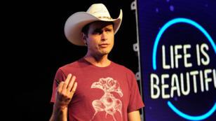 """Kimbal Musk lors du festival """"Life is Beautiful"""" de Las Vegas, en 2015."""