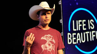 "Kimbal Musk lors du festival ""Life is Beautiful"" de Las Vegas, en 2015."