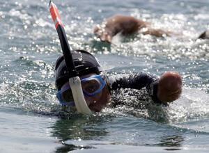 Limbless swimmer Phillippe Croizon
