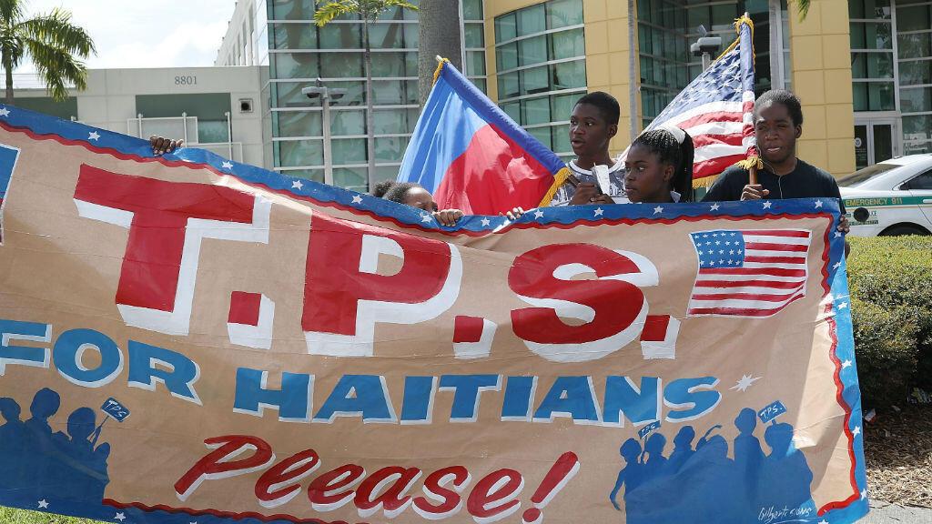 Manifestation à Miami en mai 2017 en faveur du maitien du statut de protection temporaire accordé aux Haïtiens.