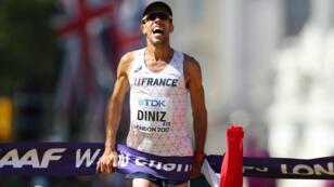 À Londres, Yohann Diniz, âgé de 39 ans, remporte son premier titre planétaire, dimanche 13 août.