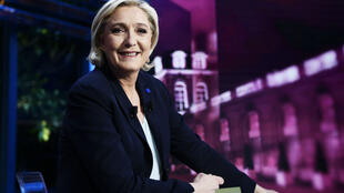 Marine Le Pen était interviewée sur TF1, le 25 avril 2017.
