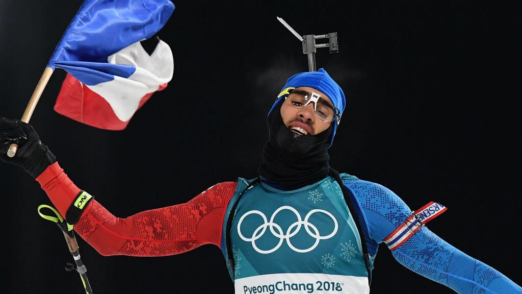 Martin Fourcade, désormais triple champion olympique de biathlon.