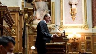 Le Premier ministre Jean Castex s'adresse au Sénat le 16 juillet 2020
