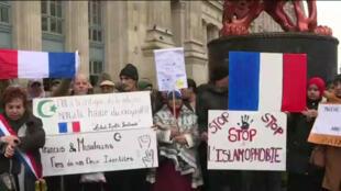 Plus de 10000personnes ont défilé contre l'islamophobie, le 10novembre2019 à Paris.
