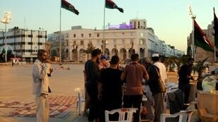 Libyans break their fast during the Muslim holy month of Ramadan in the capital Tripoli