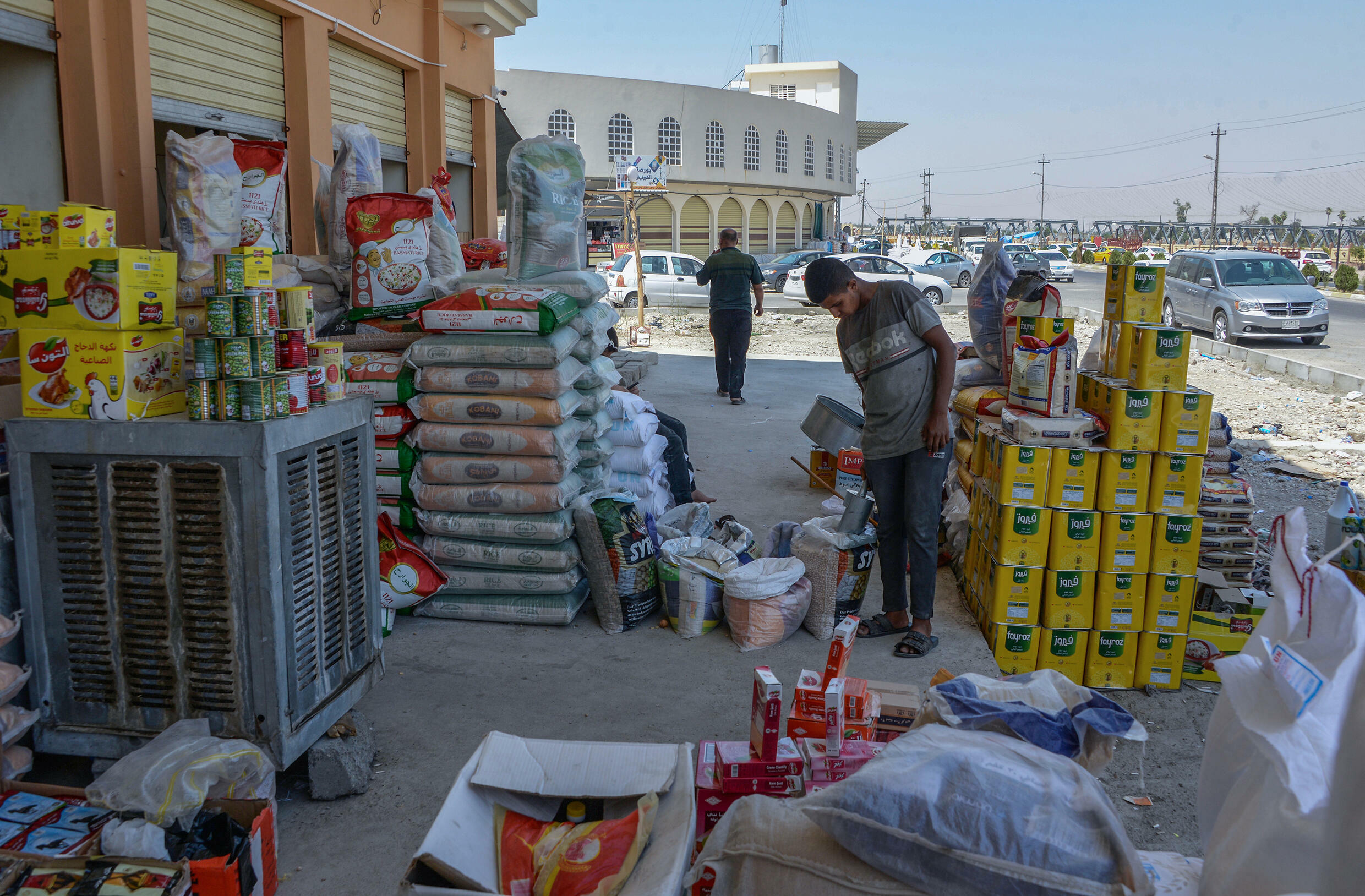 Of the 400 stalls that once crowded the Corniche market, only a tenth has resumed operations, according to a trader