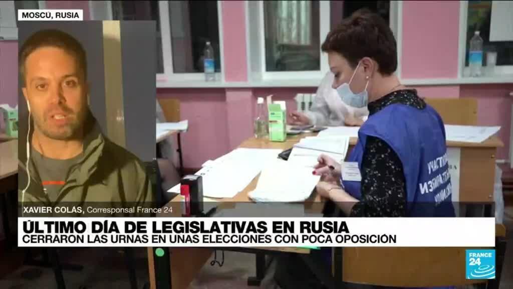 2021-09-19 19:01 Informe desde Moscú: cerraron las urnas en unas legislativas con poca oposición