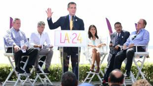 Le maire de la ville de Los Angeles Eric Garcetti.