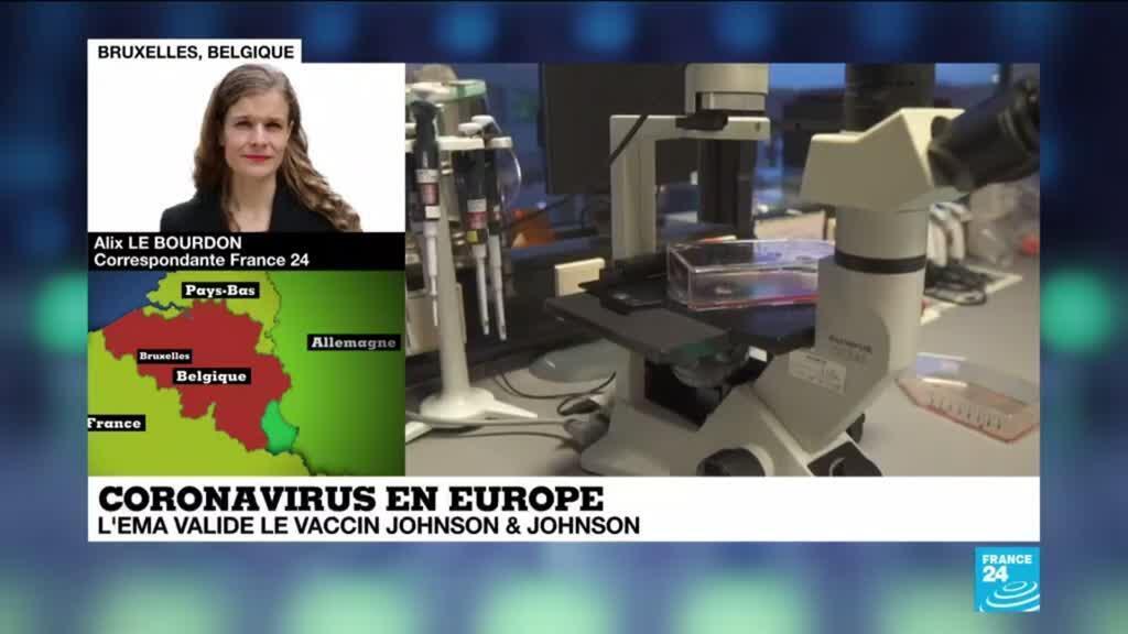 2021-03-11 15:00 Covid-19 en Europe :  Feu vert de l'agence européenne des médicaments au vaccin Johnson & Johnson