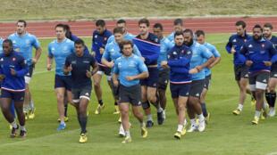 À deux semaines du début de la Coupe du Monde de rugby, les Bleus veulent emmagasiner de la confiance.