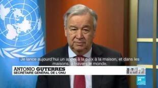 """2020-04-06 11:11 Pandémie de Covid-19 : Le confinement peut """"piéger les femmes"""", s'inquiète l'ONU"""