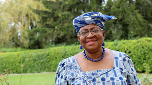 FILE PHOTO: Ngozi Okonjo-Iweala poses outside a Nigerian diplomatic residence in Chambesy, near Geneva, Switzerland, September 29, 2020.