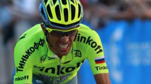 Alberto Contador le samedi 9 juillet 2016 lors de la 8e étape du Tour de France.