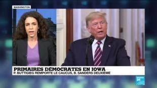2020-02-07 15:05 Caucus en Iowa : Donald Trump, réel vainqueur des premiers caucus démocrates ?