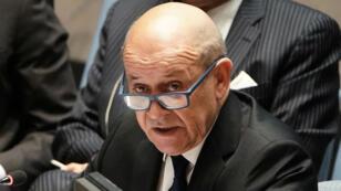 Jean-Yves Le Drian était de passage à New York vendredi 29mars2019, alors que la France préside jusqu'à dimanche soir le Conseil de sécurité de l'ONU.