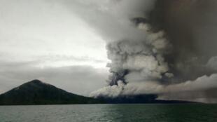 Indonesian authorities raised Anak Krakatoa's status to high alert, the second-highest danger warning