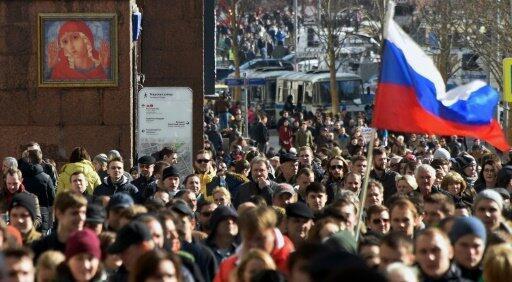 مظاهرة ضد الفساد في موسكو 26 آذار 2017