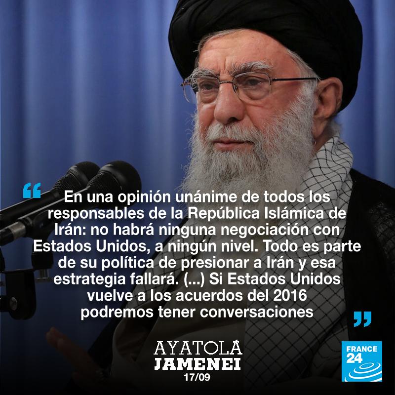 El Ayatolá Jomeini aseguró en un comunicado que no se reunirán con Estados Unidos hasta que no retiren las sanciones.