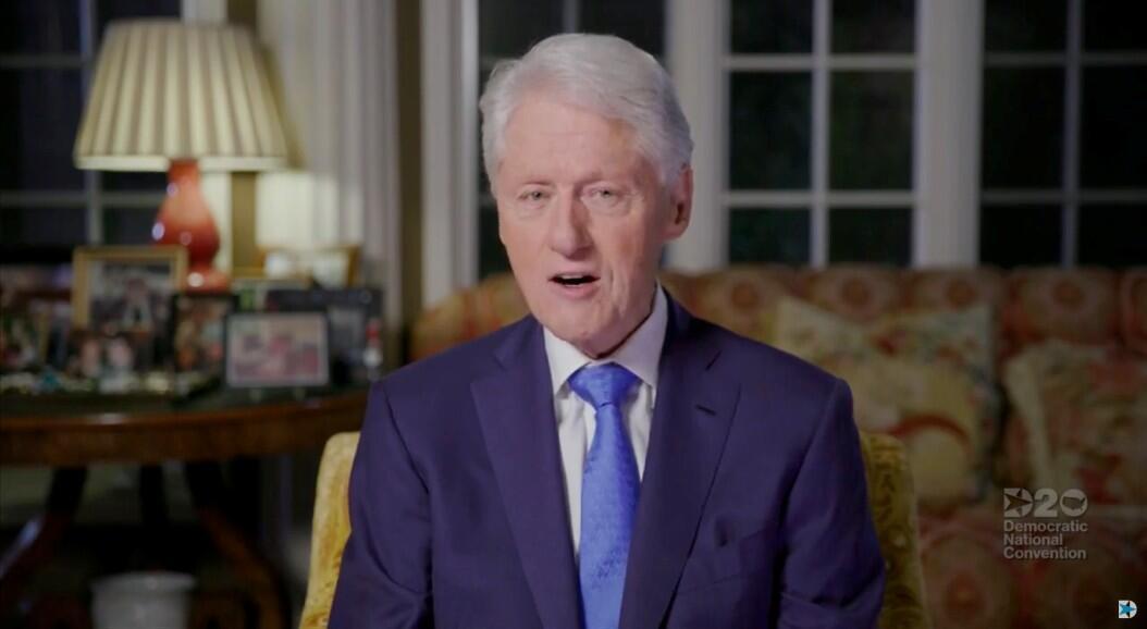 El ex presidente de los EE. UU., Bill Clinton, en el video de su discurso durante la Convención Nacional Demócrata virtual de 2020, el 18 de agosto de 2020.