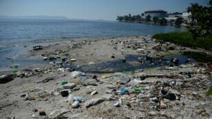 La baie de Guanabara, un an avant le début de la compétition.