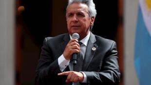 El presidente de Ecuador, Lenín Moreno, ha sido criticado por su gestión de la crisis, y según la más reciente encuesta, su aprobación es del 24%.