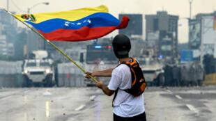 Un manifestant vénézulien à Caracas, le 8 mai 2017