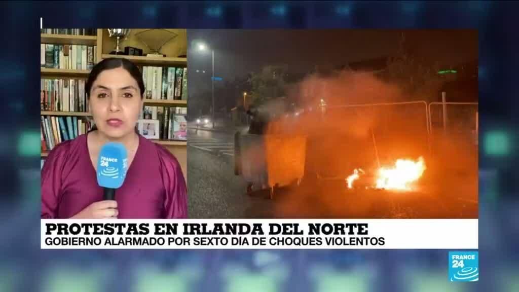 2021-04-08 14:39 Informe desde Londres: sexto día de choques violentos en Irlanda del Norte