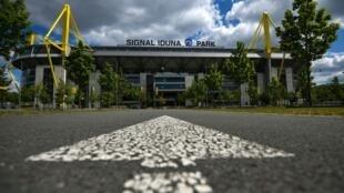 Le Signal Iduna Park du Borussia Dortmund à Dortmund, le 14 mai 2020