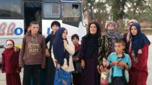 Les otages ont été libérés dans la province de Soueida, le 8 novembre 2018.