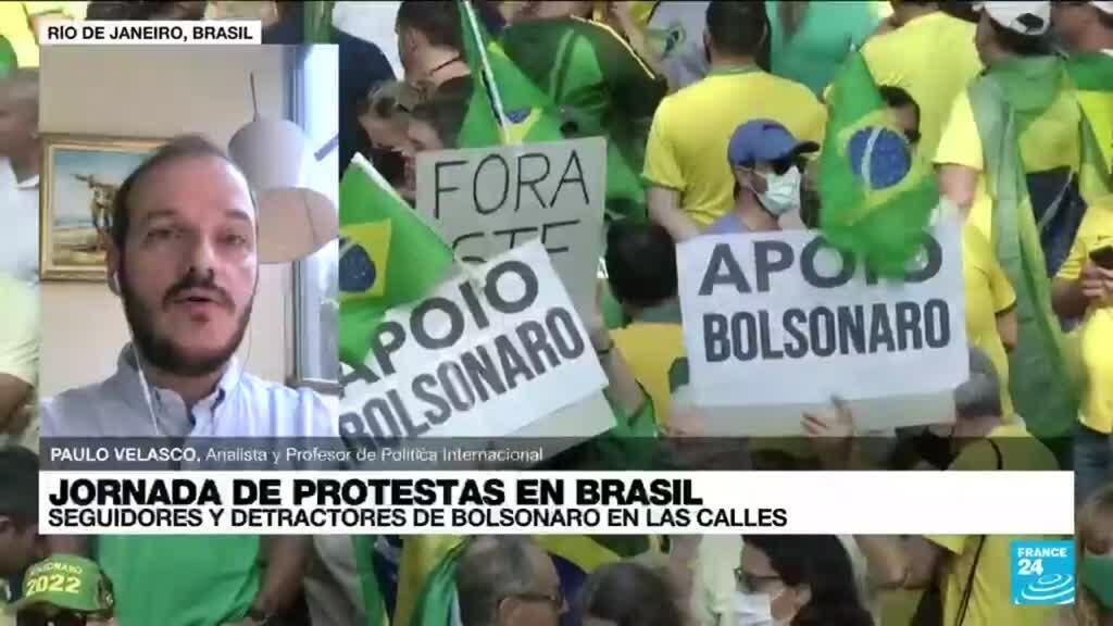 """2021-09-08 14:39 Paulo Velasco: """"Jair Bolsonaro muestra desprecio absoluto por las instituciones democráticas"""""""