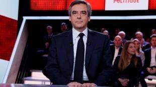 François Fillon était l'invité de L'Émission politique, sur France 2, jeudi 23 mars 2017.