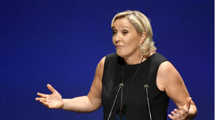 La líder del movimiento de ultraderecha Agrupación Nacional, Marine Le Pen, durante un discurso en el sur de Francia, en septiembre de 2018.