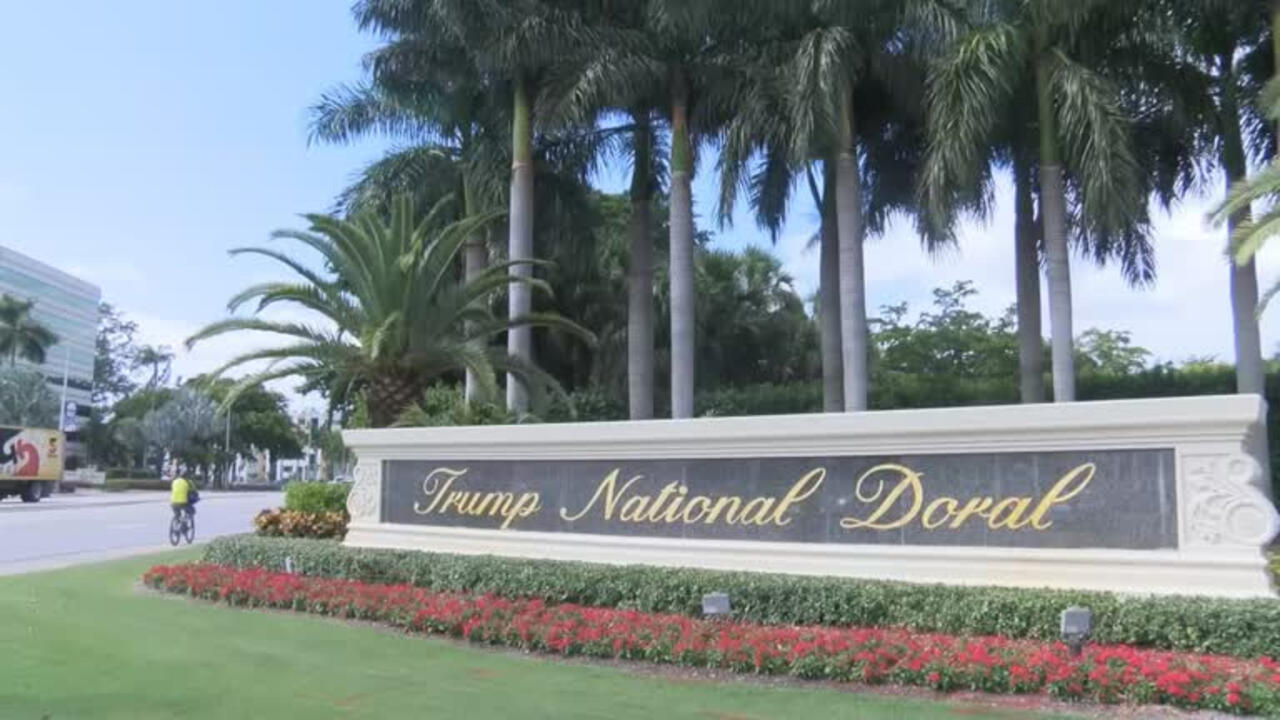 File-The Trump National Doral is part of the hotel chain owned by the Trump family.