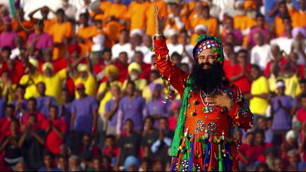 "Gurmeet Ram Rahim Singh dans son film ""Le Messager"" sorti en 2015."