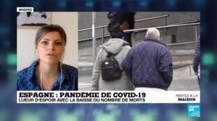 2020-04-06 09:08 Coronavirus : Lueur d'espoir en Espagne, avec la baisse du nombre de morts
